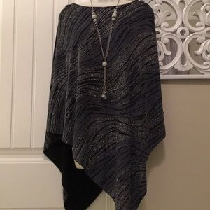 NWOT CHICOS BLING PONCHO TOP
